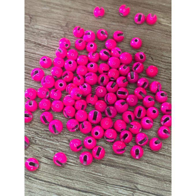 25 ou 50 billes fendues tungstène ROSE FLUO à partir de 3.90€
